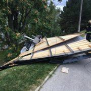 Berufsfeuerwehr Wien beseitigt Sturmschäden