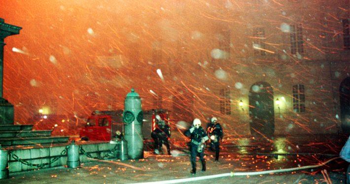 Redoutensäle der Wiener Hofburg vor 25 Jahren durch Großbrand zerstört