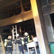 Brand einer Halle