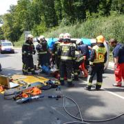 Verkehrsunfall auf der Höhenstraße fordert einen Verletzten