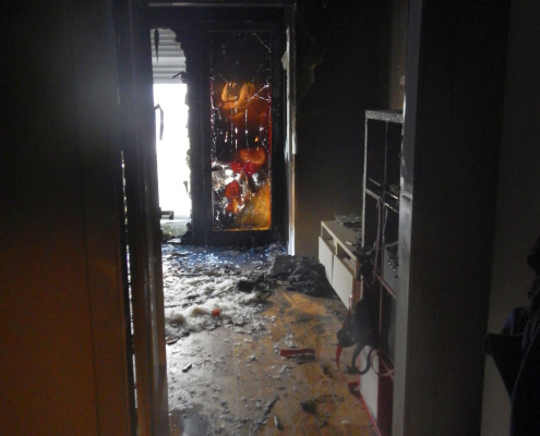 Wohnungsinhaber bei Brand verletzt