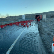 Autobahnausfahrt wegen Scherbenmeer gesperrt