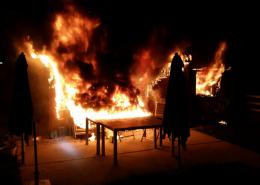 Gebäudevollbrand in Kleingartenanlage